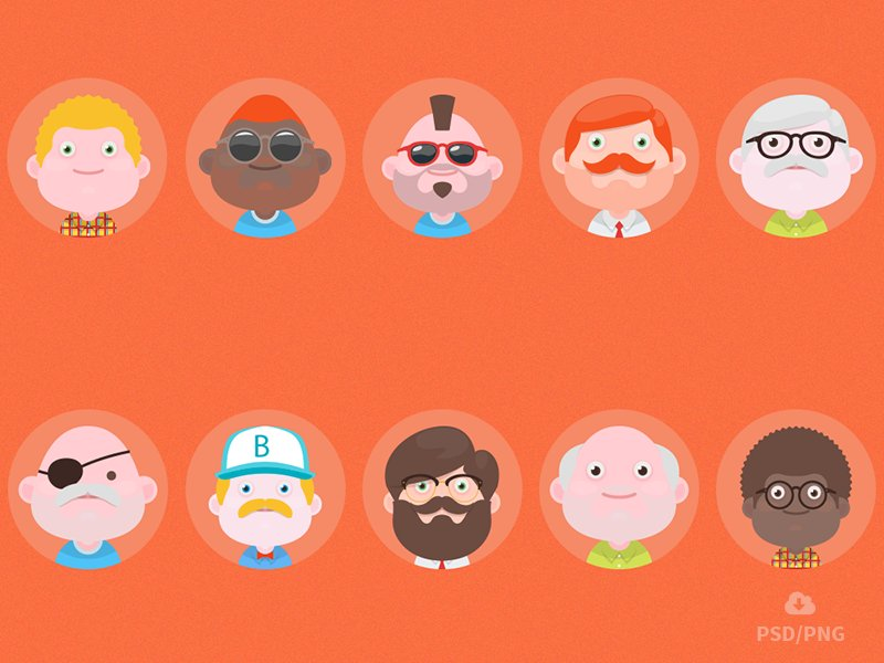 free-set-of-material-design-avatars-2