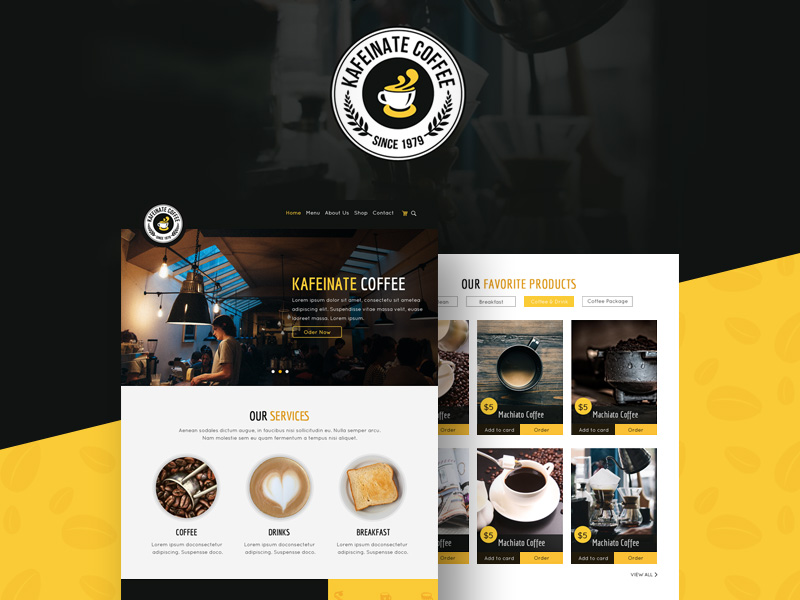 kafeinate-coffeeshop-template-freebie
