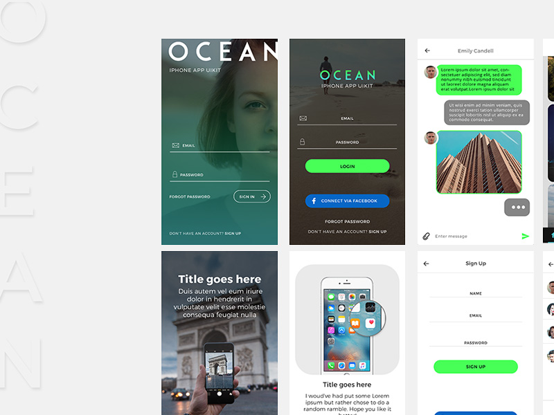 ocean-mobile-ui-kit-freebie