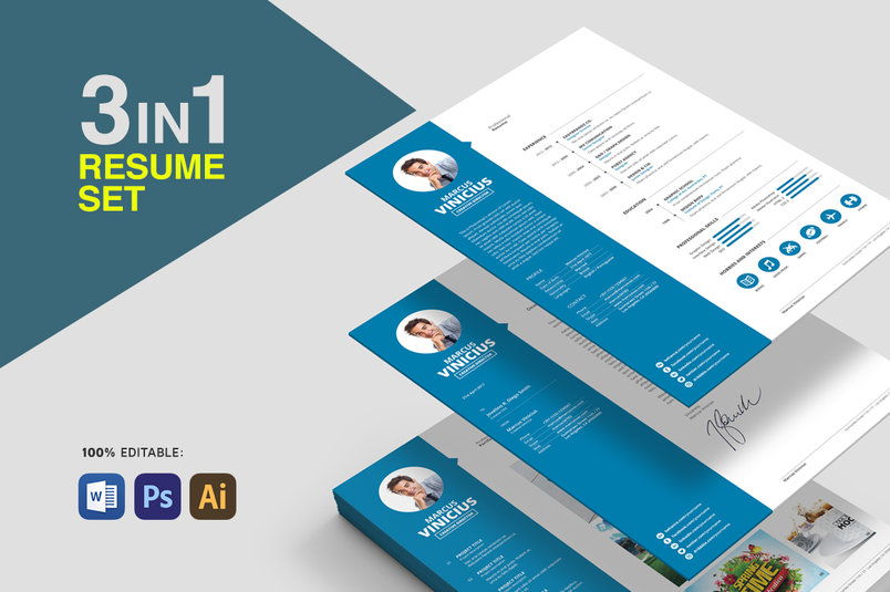 30+ Best Clean CV / Resume Templates | Designazure.com