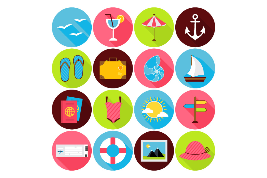 summer-travel-free-flat-icons