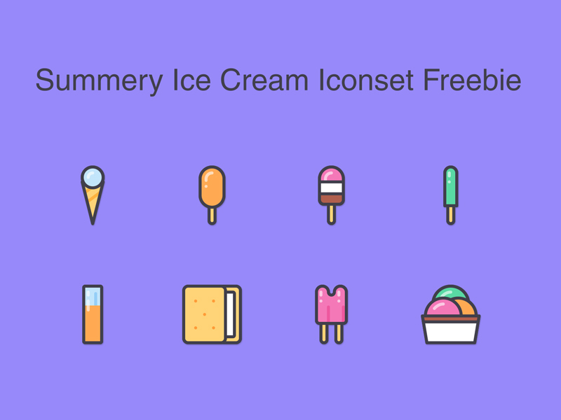 summery-ice-cream-icons