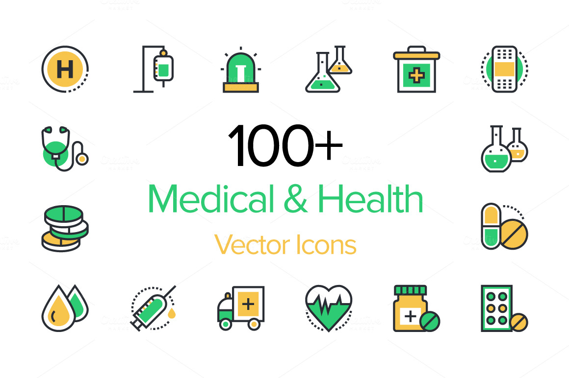 100-Medical-Health-Vector-Icons