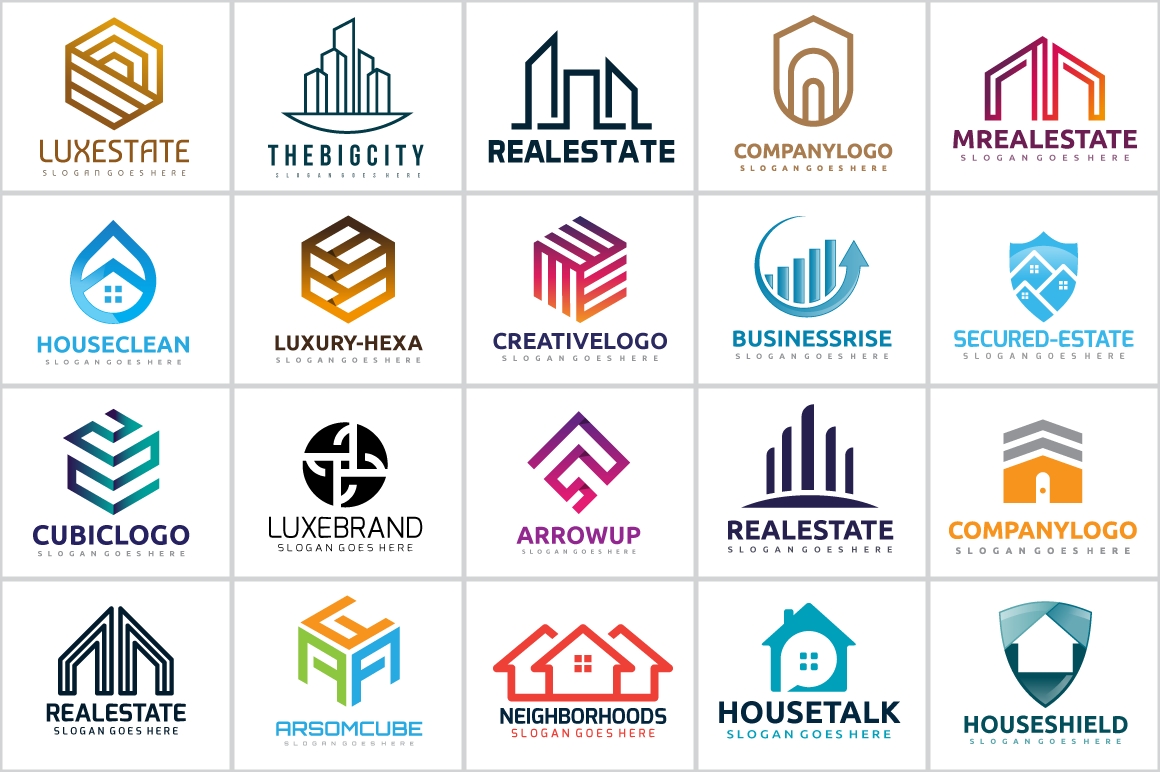20-Real-Estate-House-Abstract-Logo