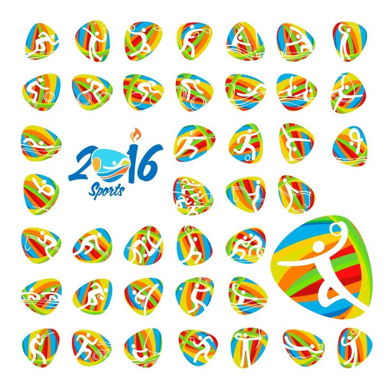 2016-olympic-games-summer-sports-icons-set-2