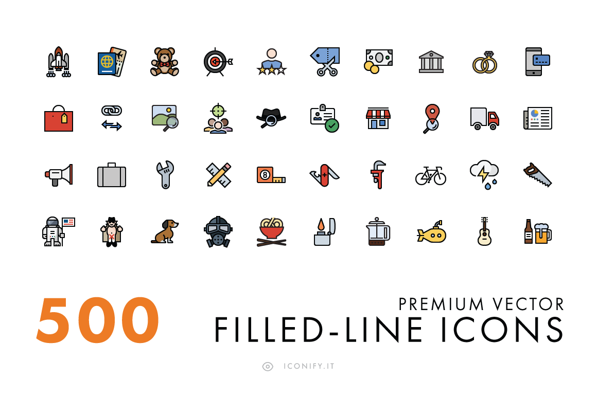 500-Filled-Line-Icons