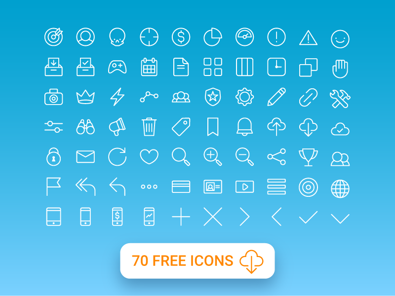 70-Free-All-Purpose-Line-Icons