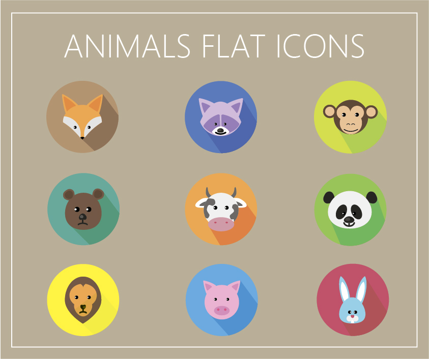 Animals-Flat-Icons