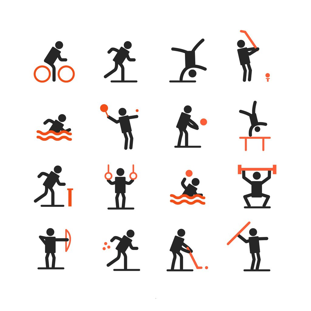 Black-Avatars-Playing-Sports-Icons