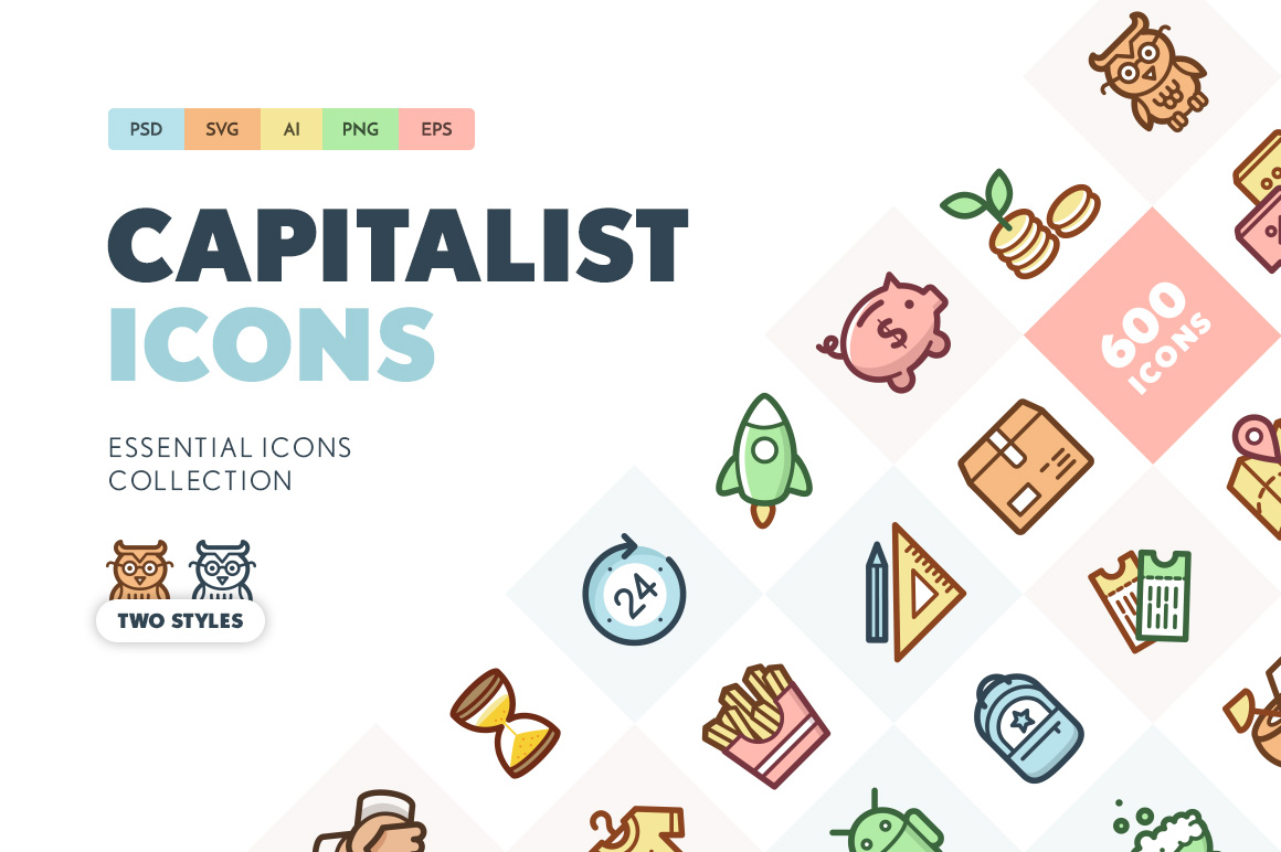 Capitalist-Flat-Icons-Collection