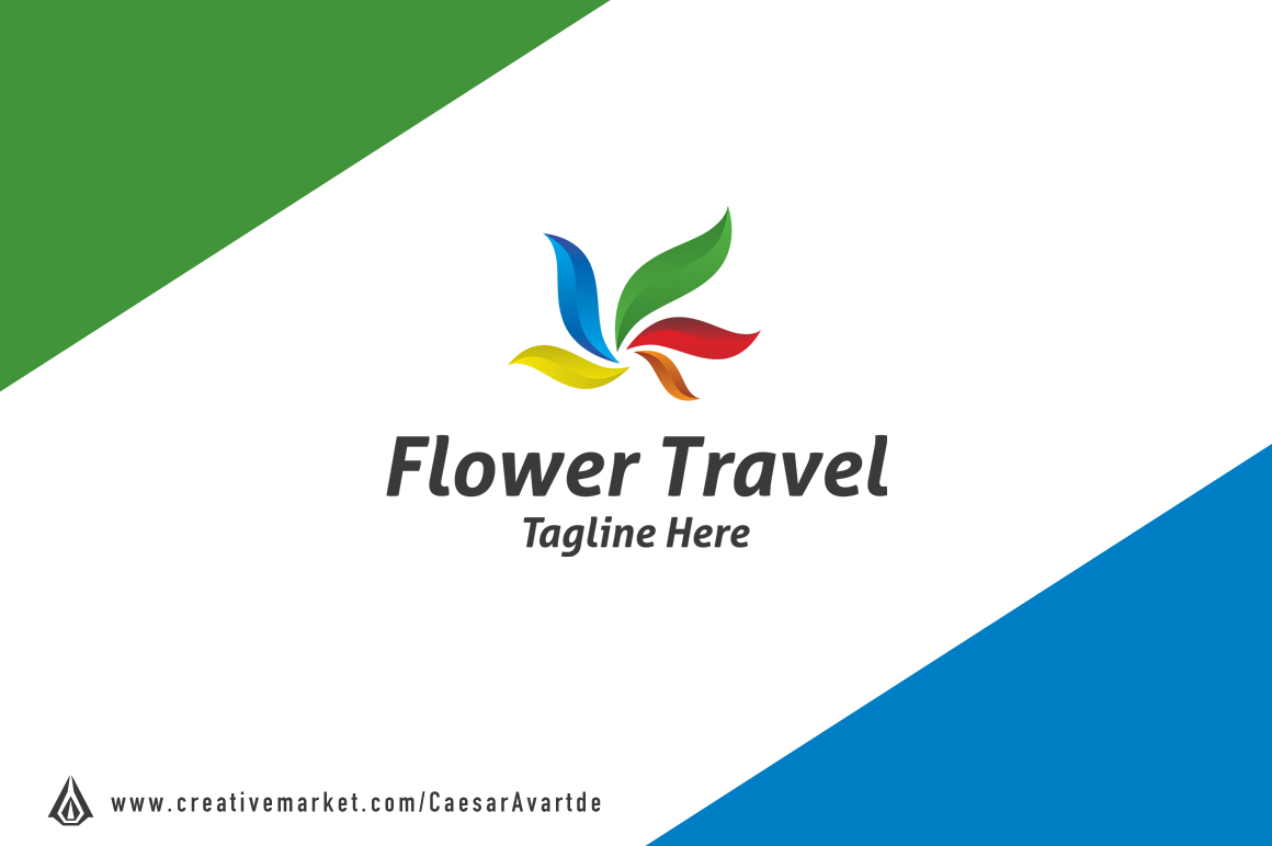 Flower-Travel-Logo-Template