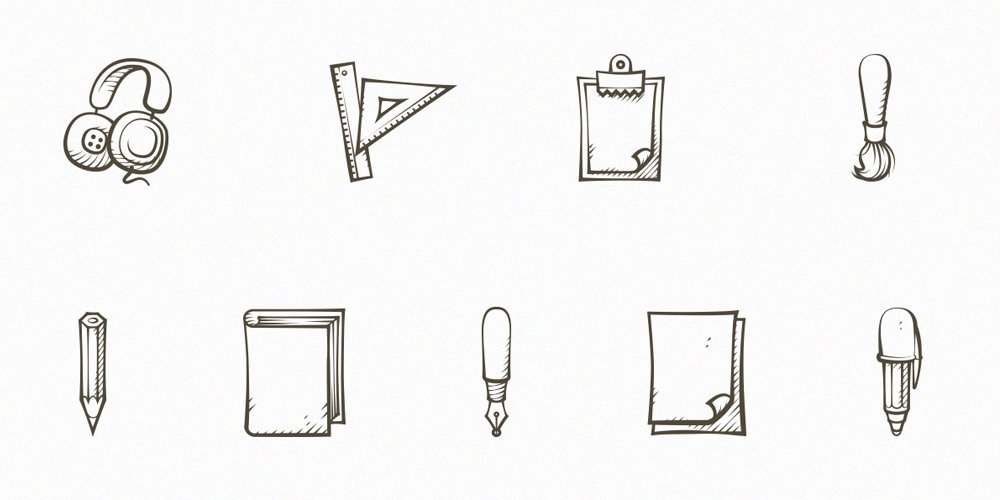 Free-Hand-Drawn-Icons