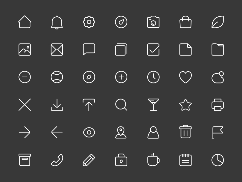 Free-Square-Line-Icons