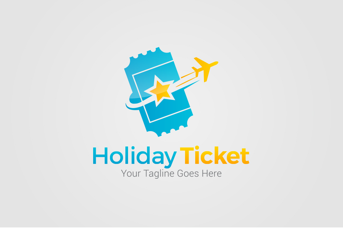 Holiday-Ticket-Logo-Templates