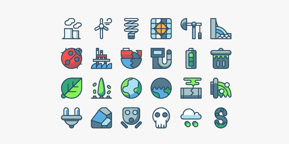 Pollution-and-Energy-Icons
