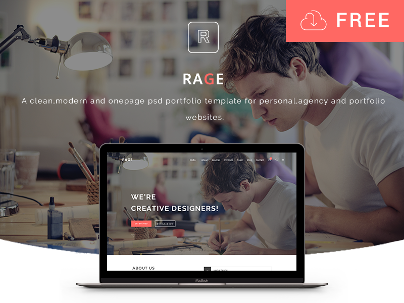 RAGE-Digital-Agency-PSD-Template-Freebie