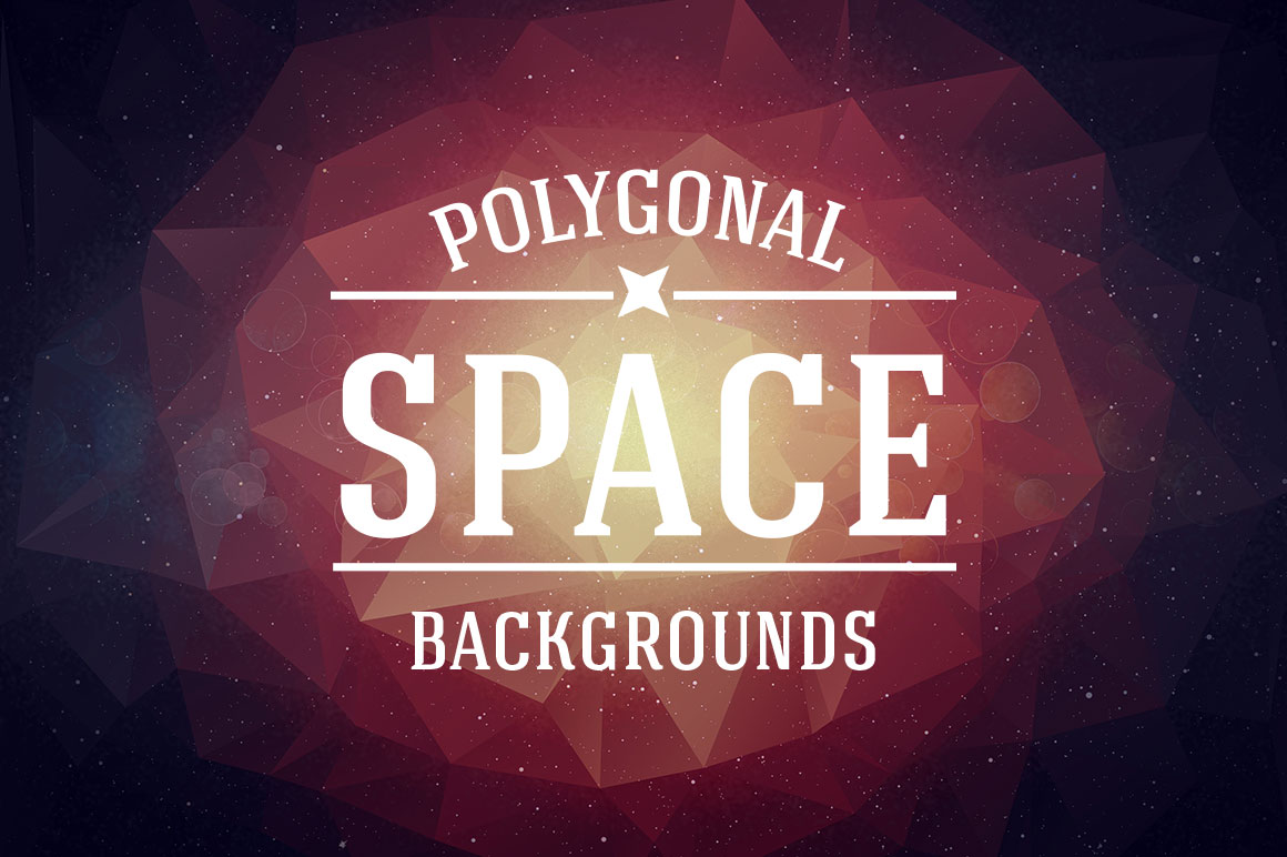 Retro-Space-Polygonal-Backgrounds