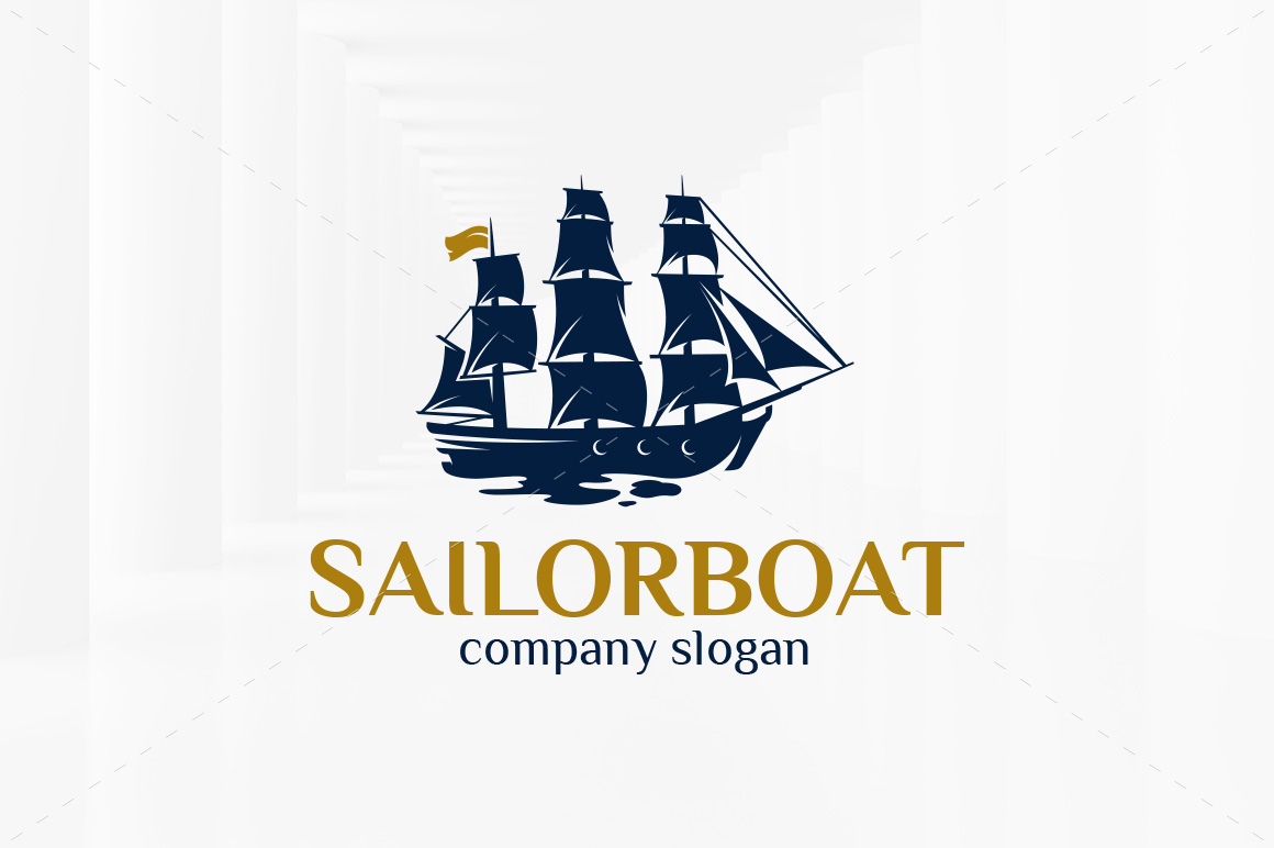 Sailor-Boat-Logo-Template
