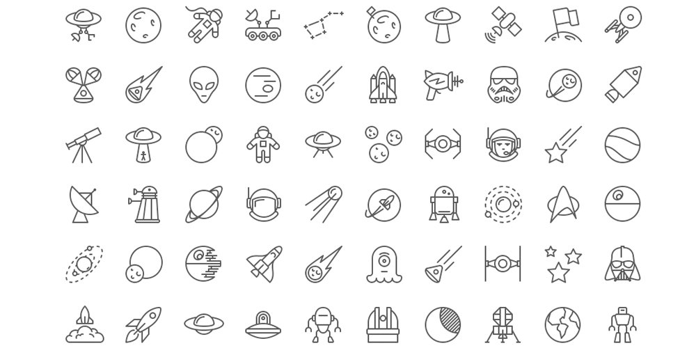 Space-iOS-Line-Icons