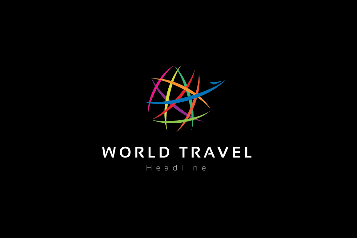 World-travel-logo-template