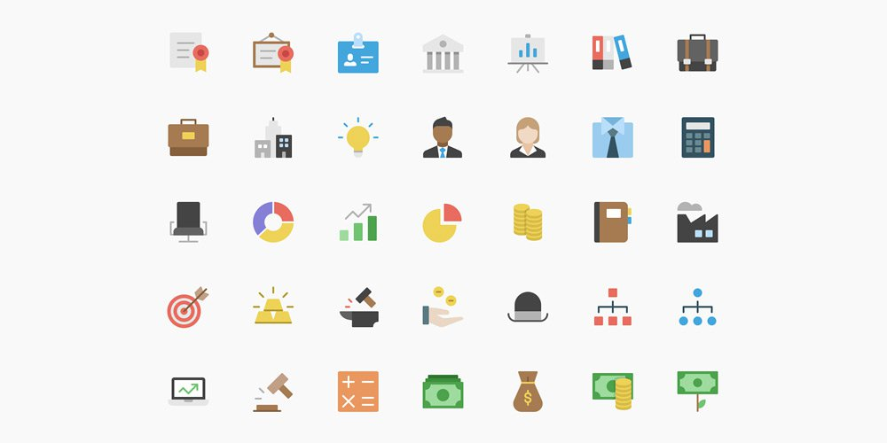 free-nucleo-flat-business-icon-set