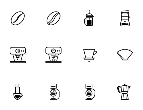 freebie-barista-iconset