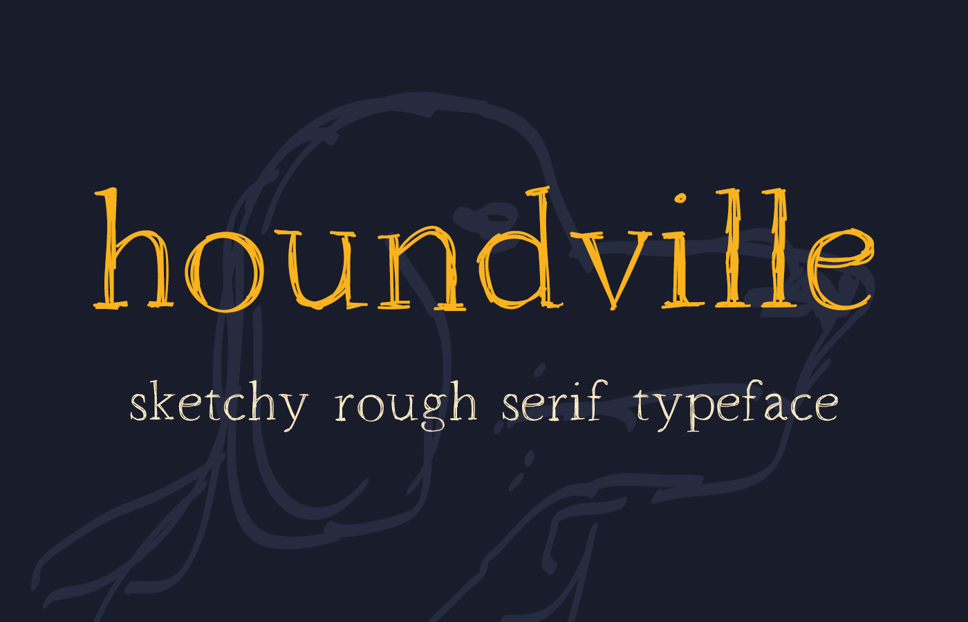 houndville-free-handwriting-font