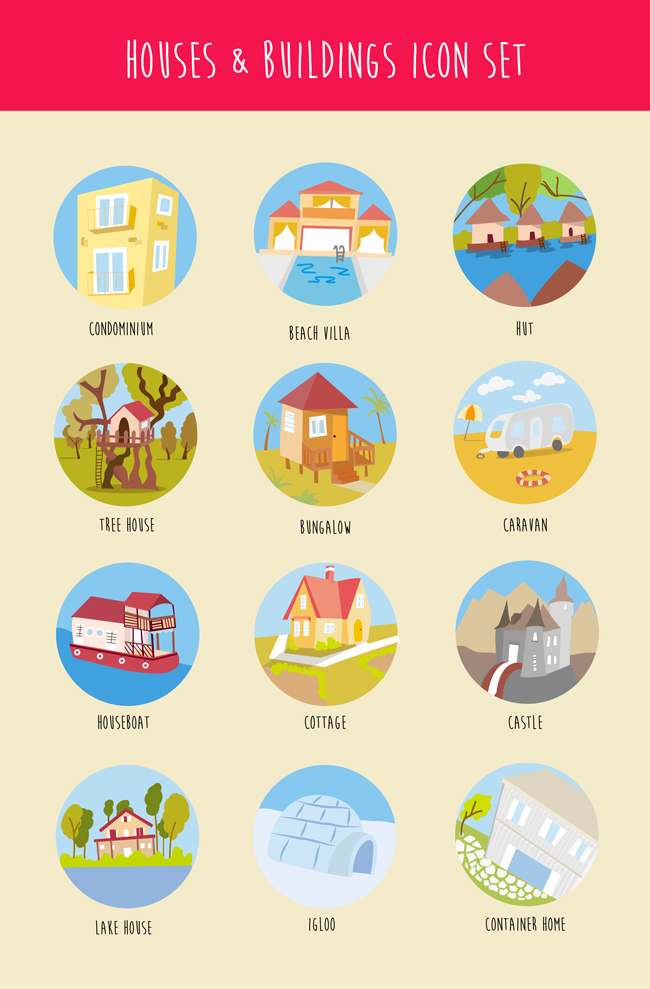 houses-buildings-icons