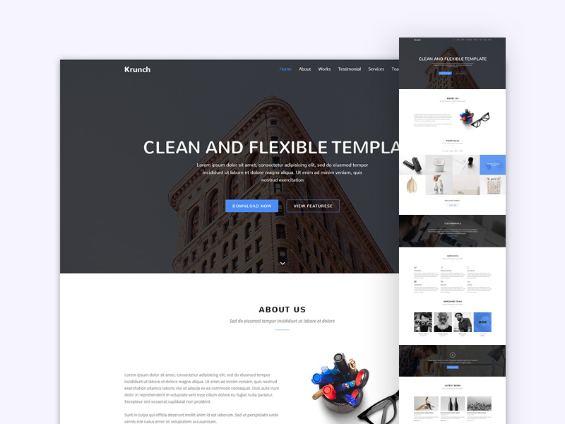 krunch-agency-landing-page-freebie