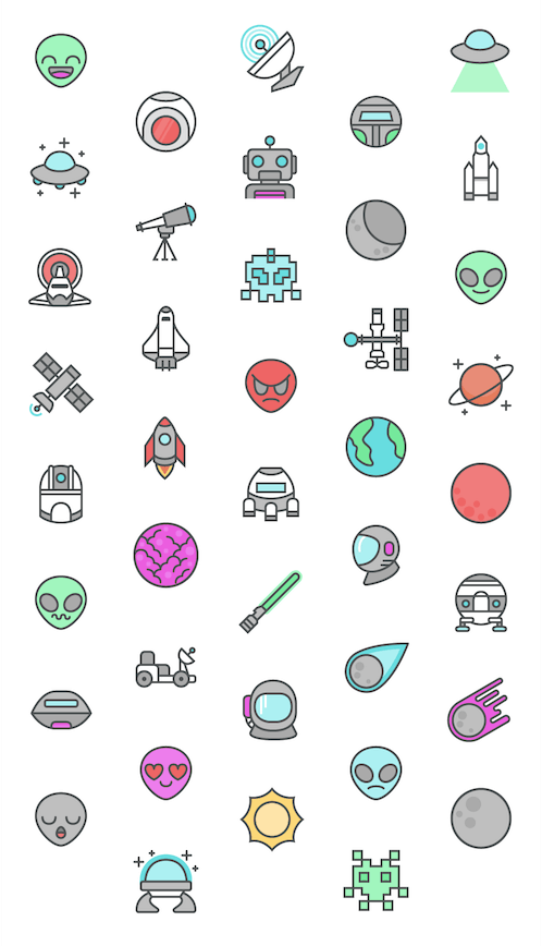 space-icon-set