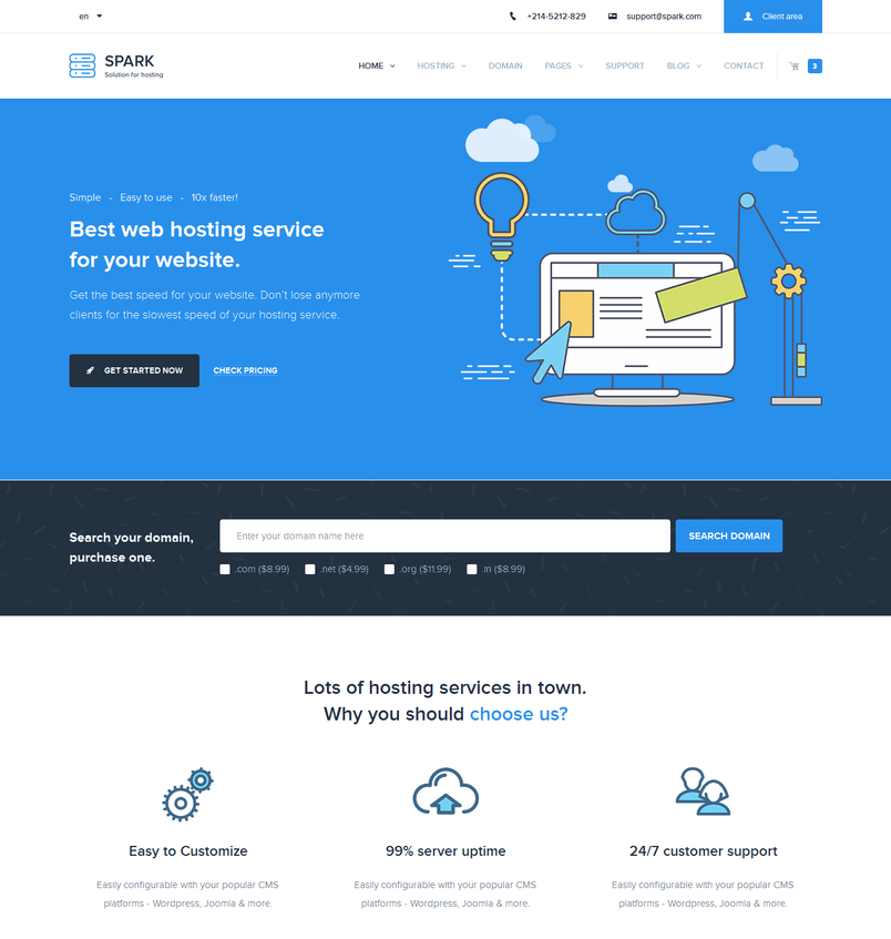 spark-responsive-hosting-domain-technology-site-template-2