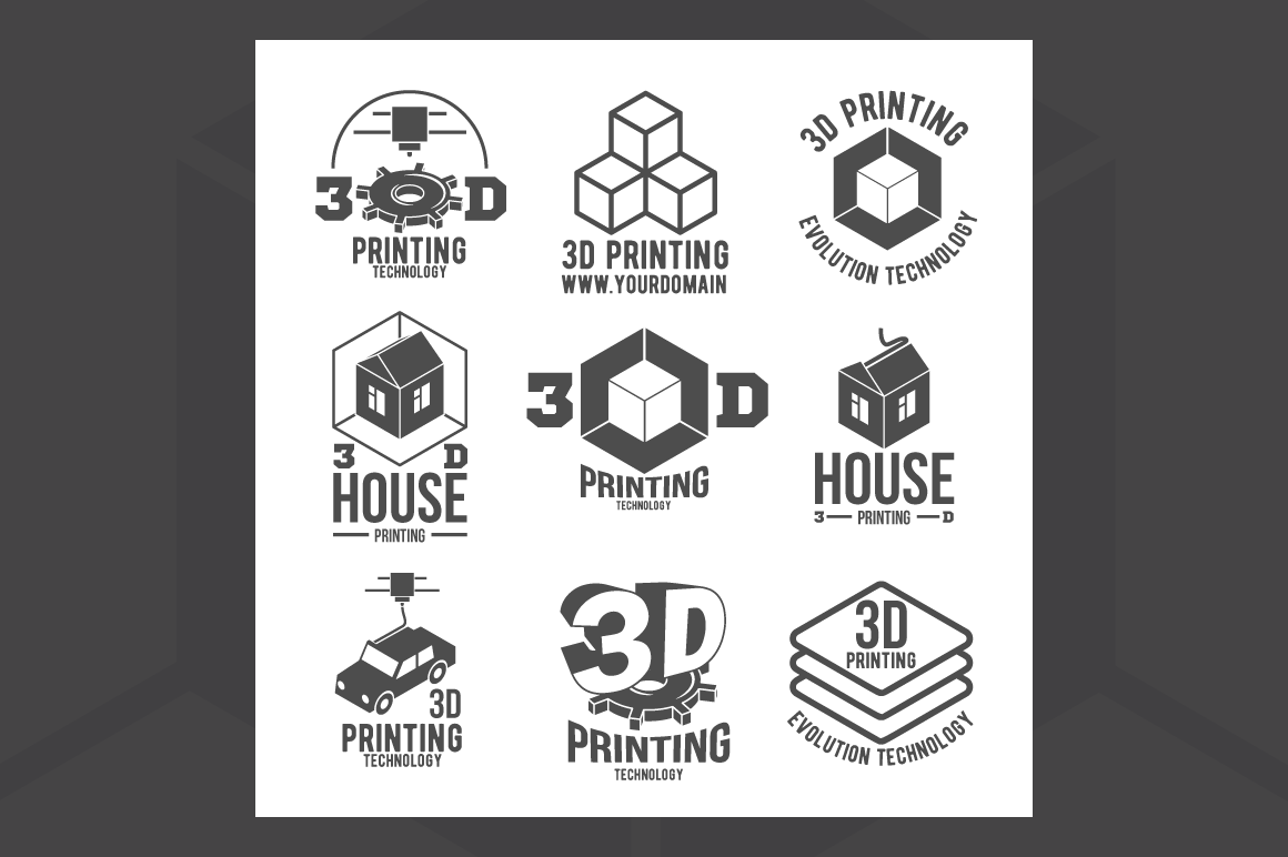 3d-printer-icons-and-logotypes