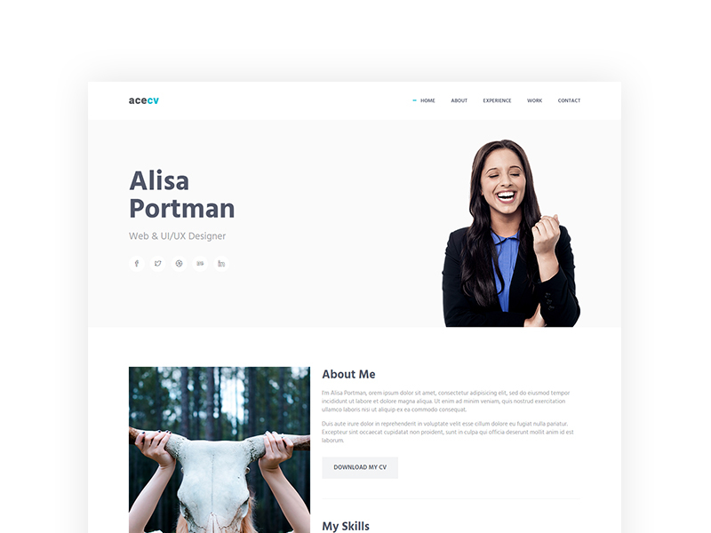 acecv-professional-cv-parallax-bootstrap-template