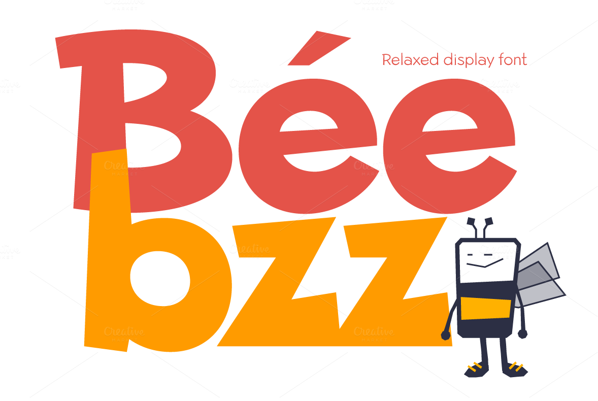 Beebzz-Child-kid-fun-font