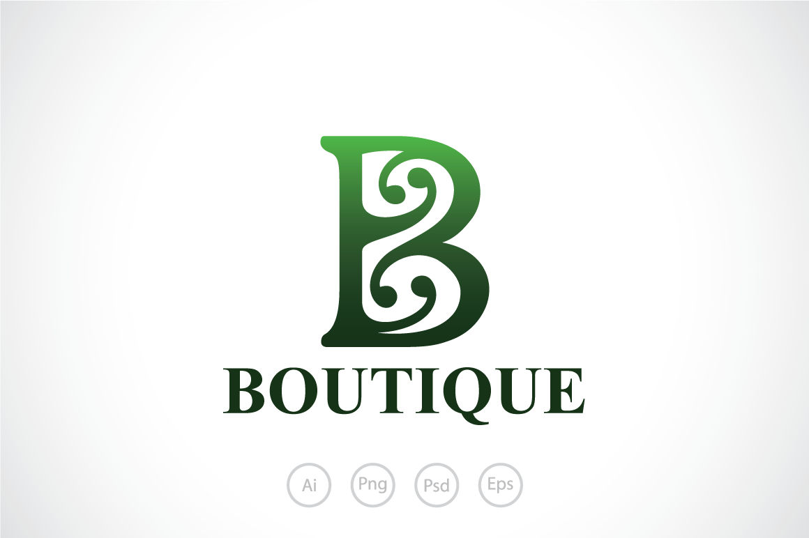 boutique-b-alphabet-logo-template