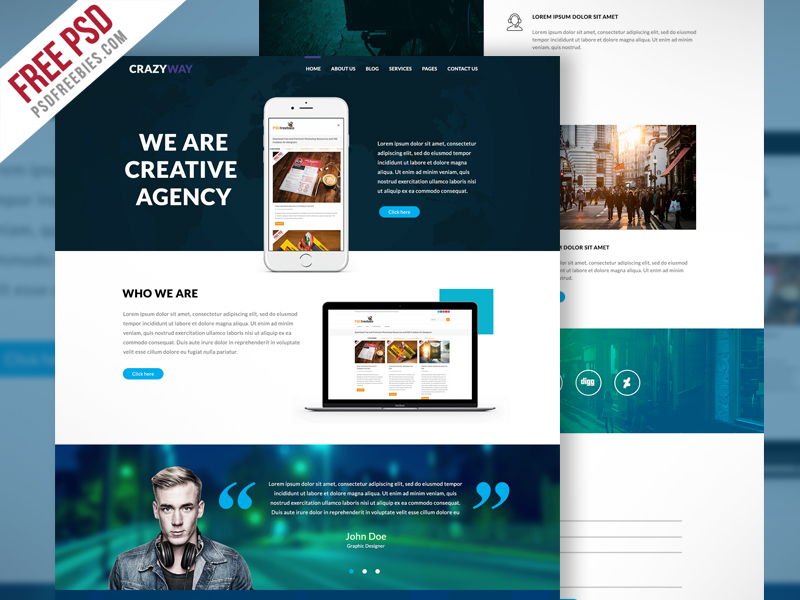 creative-agency-website-template-free-psd