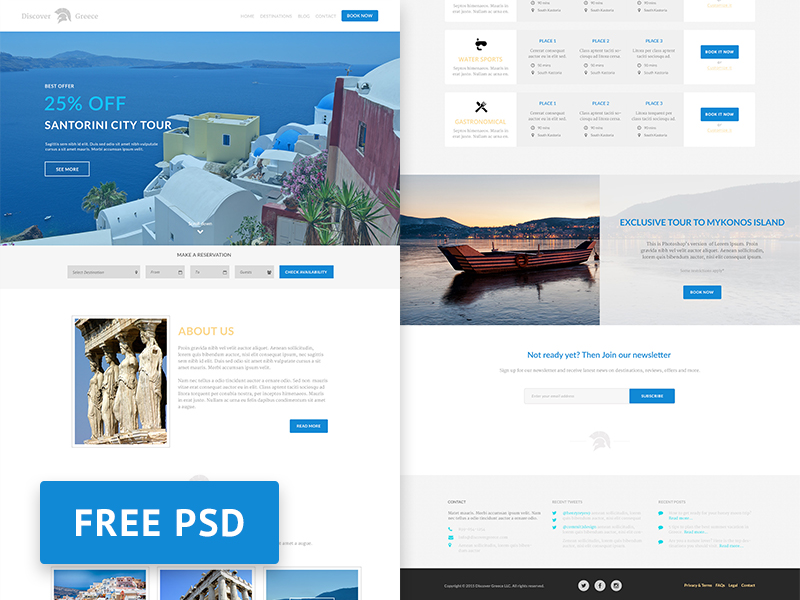 Discover-Greece-Travel-agency-free-PSD-web-design-template