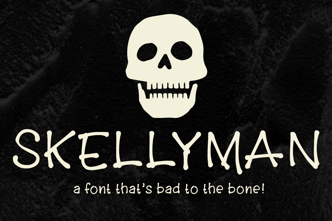 skellyman-a-free-font-made-of-bones