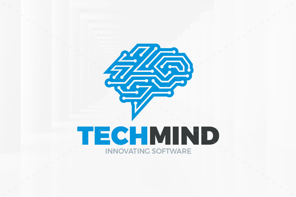 tech-mind-logo-template