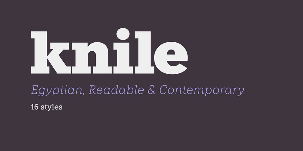knile-font