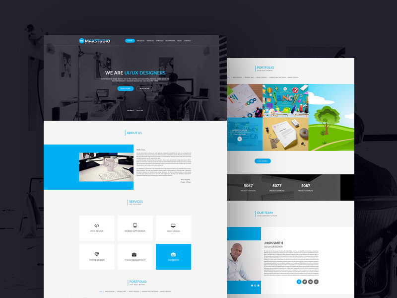 max-studio-template-freebie