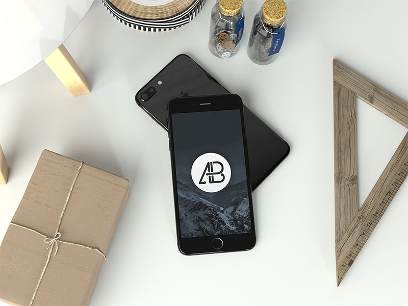 realistic-jet-black-iphone-7-plus-mockup-2