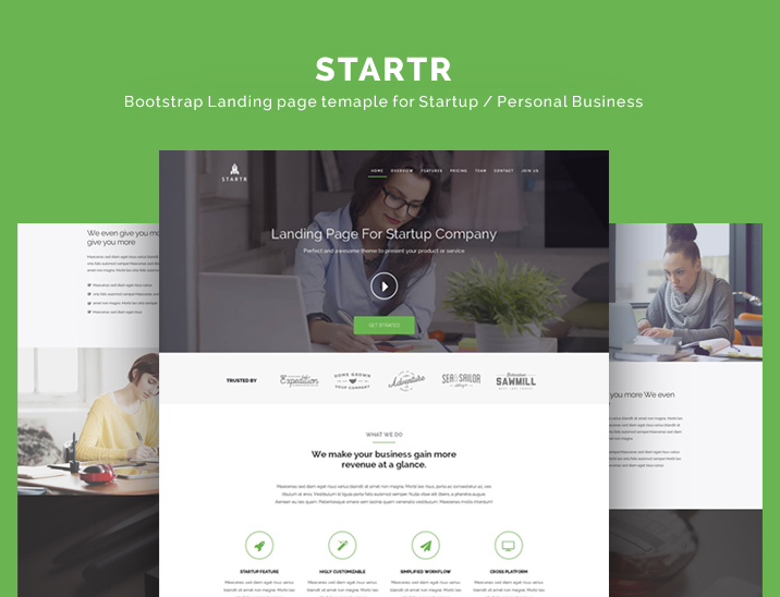 startr-free-startup-landing-page-template