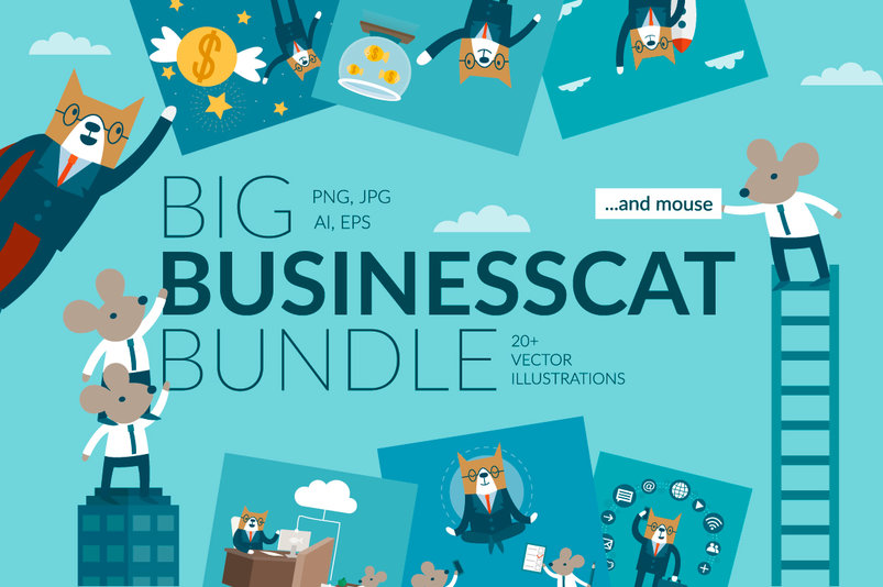 vector-businesscat-bundle-2