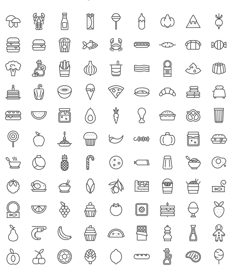 100-food-icons-set-2