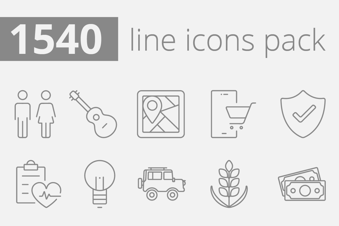 1540-vector-line-icons-pack