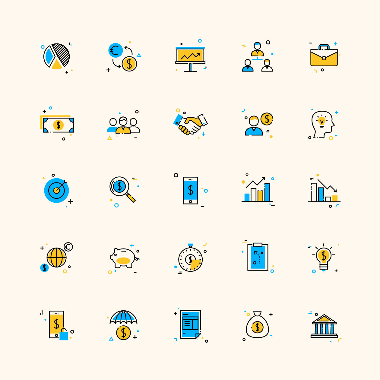 25-corporate-business-colored-icons