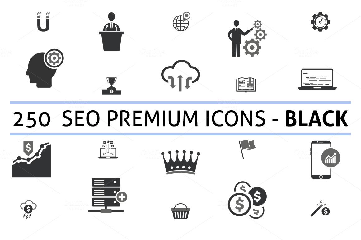 250-seo-premium-black-icons