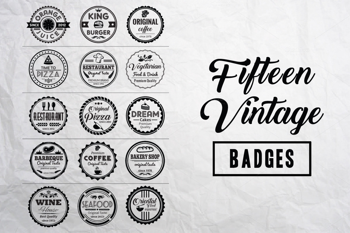 fifteen-vintage-badges