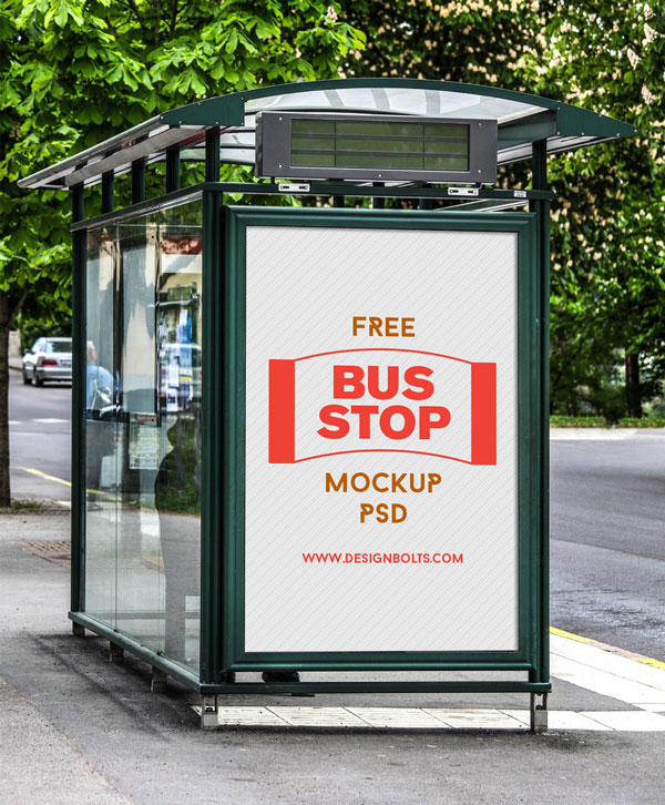 Download Bus Stop Advertising Template Free